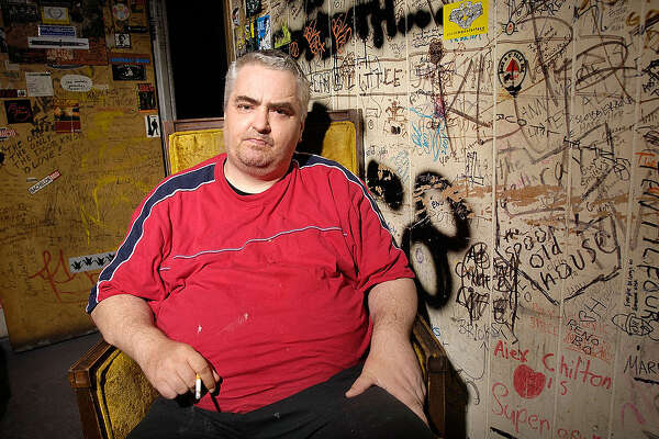 ATHENS, GA - AUGUST 11: Musician Daniel Johnston, photographed backstage before performing at the Athens Popfest 2007 at the 40 Watt Club on August 11, 2007 in Athens, Georgia. (Photo by Frank Mullen/WireImage)
