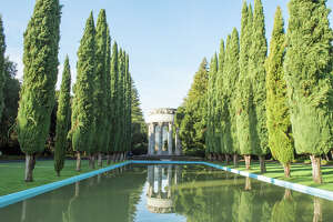 The Pulgas Water Temple was designed by William Merchant with stone work by master carver Albert Bernasconi. If it seems reminiscent of San Francisco's Palace of Fine Arts, it's no accident. Merchant was trained by the palace's architect, Bernard Maybeck.