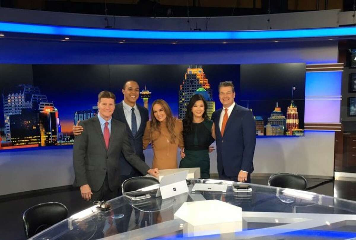 Sharon Ko (second from the right) is the new co-anchor of Eyewitness News at 6 p.m.