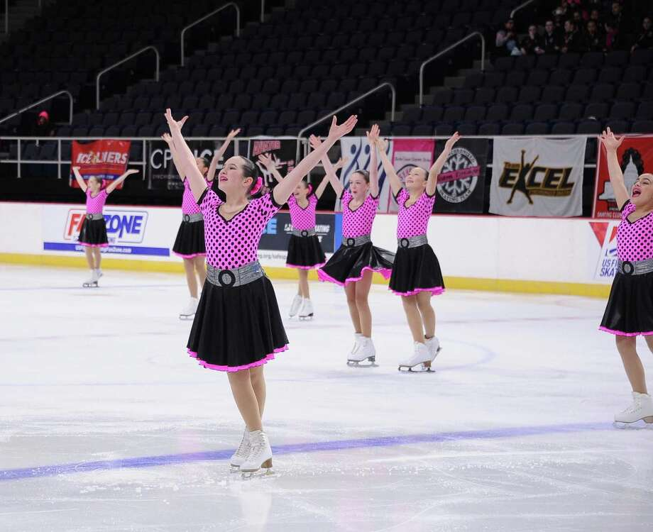 Tessa Kowal's team competes in the Eastern Synchronized Skating Sectional Championships. Photo: Contributed Photo / / Wilton Bulletin Contributed