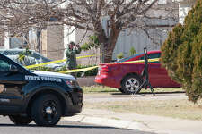 Police investigators take pictures and gather evidence 01/23/2020 in the 1900 block of E. Pine following an officer involved shooting. Tim Fischer/Reporter-Telegram