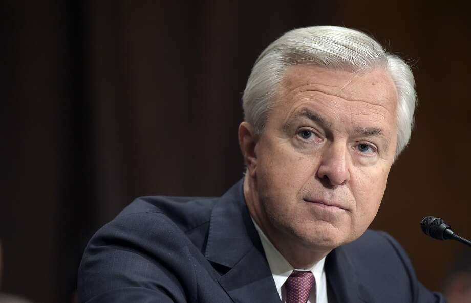 John Stumpf testifies in 2016 before the Senate Banking Committee. Regulators have slapped him with a $17.5 million fine for his role in the bank's sales practices scandal. Photo: Susan Walsh / Associated Press 2016