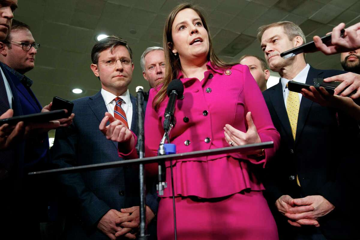 Rep. Elise Stefanik, R-N.Y., voted against stripping U.S. Rep. Marjorie Taylor Greene, a newly elected Republican from Georgia, from committee posts. (Jacquelyn Martin/AP)