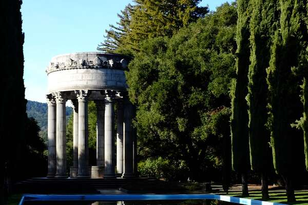 The classically inspired Pulgas Water Temple was built to commemorate the arrival of Hetch Hetchy water to San Francisco in 1934.