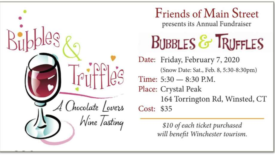 Friends of Main Street is preparing for its annual fundraiser, Bubbles and Truffles, on Feb. 7. Photo: Friends Of Main Street / Contributed Photo