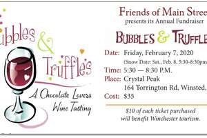 Friends of Main Street is preparing for its annual fundraiser, Bubbles and Truffles, on Feb. 7.
