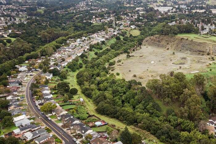 A potential housing development site off Overlook Avenue near Carlos Bee Boulevard, Wednesday, Jan. 22, 2020, in Hayward, Calif.