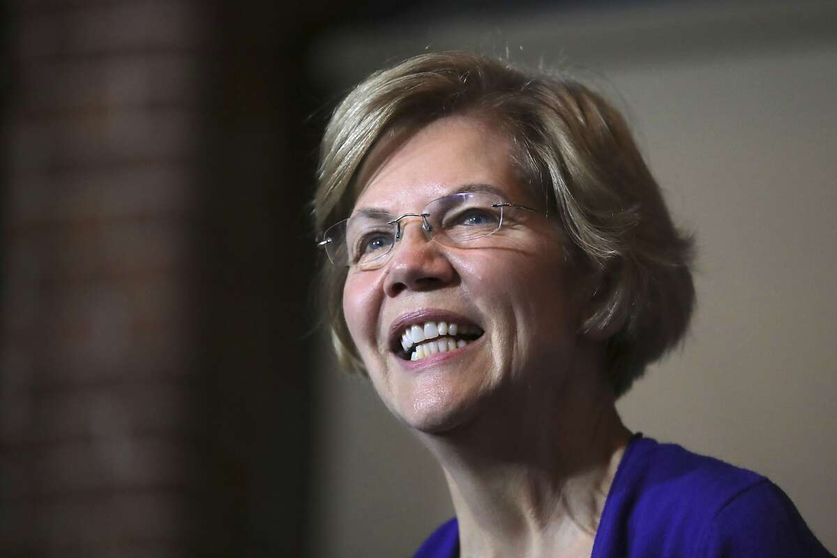 Democratic presidential candidate Sen. Elizabeth Warren, D-Mass., smiles during a campaign stop in Dover, N.H., Friday, Jan. 10, 2020. (AP Photo/Charles Krupa)