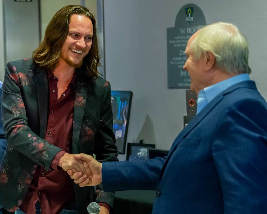 Nederland-raised Tim Foust of the vocal group Home Free is inducted into the Hall of Fame at the Museum of the Gulf Coast on Wednesday, January 22, 2020. Fran Ruchalski/The Enterprise Photo: Fran Ruchalski/The Enterprise
