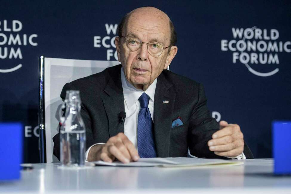 Wilbur Louis Ross, US Secretary of Commerce, addresses a press conference during the 50th annual meeting of the World Economic Forum, WEF, in Davos, Switzerland, Wednesday, Jan. 22, 2020. (Alessandro della Valle/Keystone via AP)