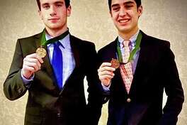 Tom Packevicz and Sebastian Cuadros earned All-State honors.