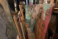 Franco Mondini-Ruiz works - and lives - at his studio at 1415 South Presa St.