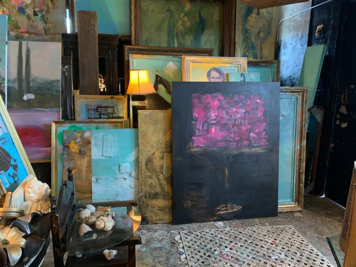 Franco Mondini-Ruiz works - and lives - at his studio at 1415 South Presa St.