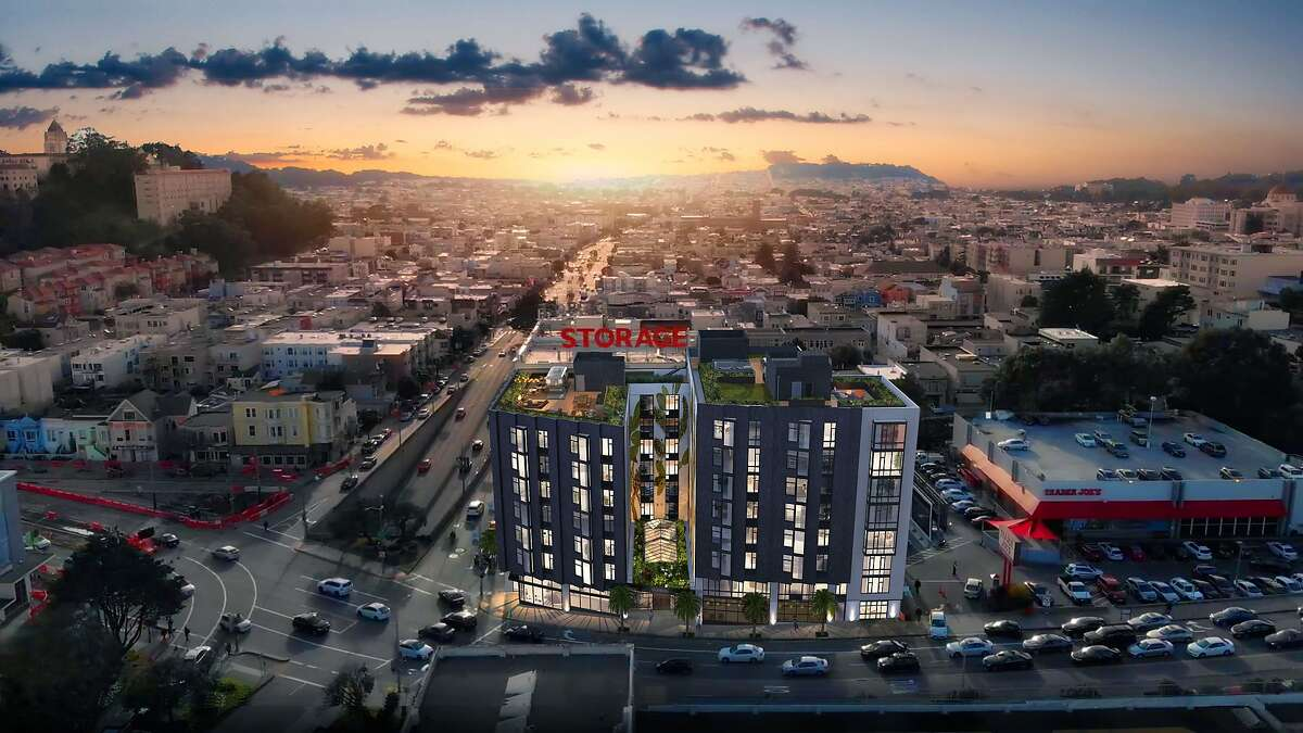 An artist's rendering depicts the 101-unit apartment complex to be built on Geary Blvd. at the site of the former Lucky Penny diner in San Francisco, Calif. Presidio Bay Ventures received approval on Thursday, Jan. 23, 2020 to move forward with the development after the San Francisco Planing Commission voted to support the project.