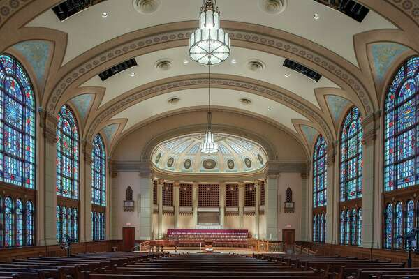 South Main Baptist Church has won a 2020 Good Brick Award from Preservation Houston for restoring its historic sanctuary (1930) in Midtown