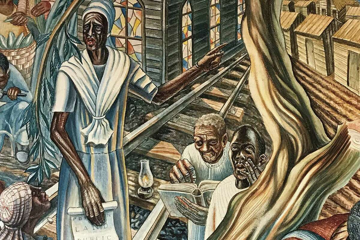 Blue Triangle Multi-Cultural Association, Inc., has won a 2020 Good Brick Award from Preservation Houston for restoring the mural The Contribution of Negro Woman to American Life and Education by John Biggers (1953) in the Blue Triangle Community Center in Third Ward.