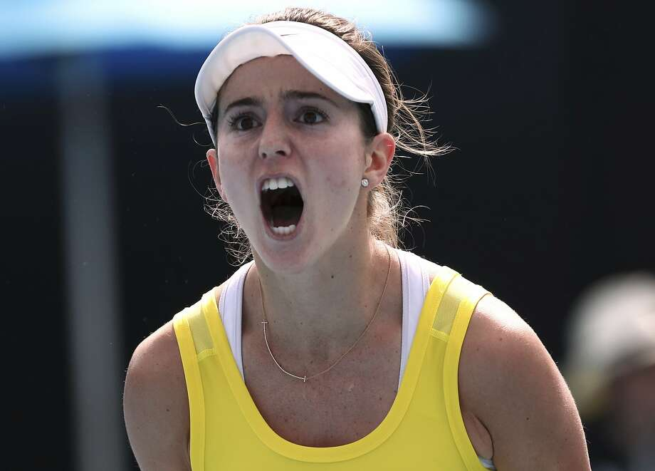 Atherton's CiCi Bellis, playing in her first Grand Slam event in two years, is into the third round in Melbourne. Photo: Dita Alangkara / Associated Press