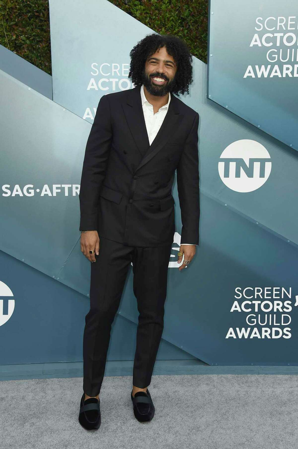 Daveed Diggs arrives at the 26th annual Screen Actors Guild Awards at the Shrine Auditorium & Expo Hall on Sunday, Jan. 19, 2020, in Los Angeles. (Photo by Jordan Strauss/Invision/AP)