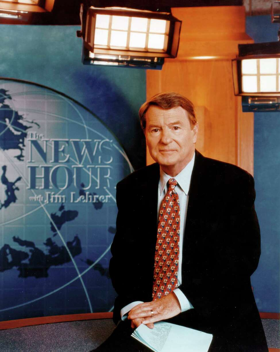 This undated image released by PBS shows Jim Lehrer of