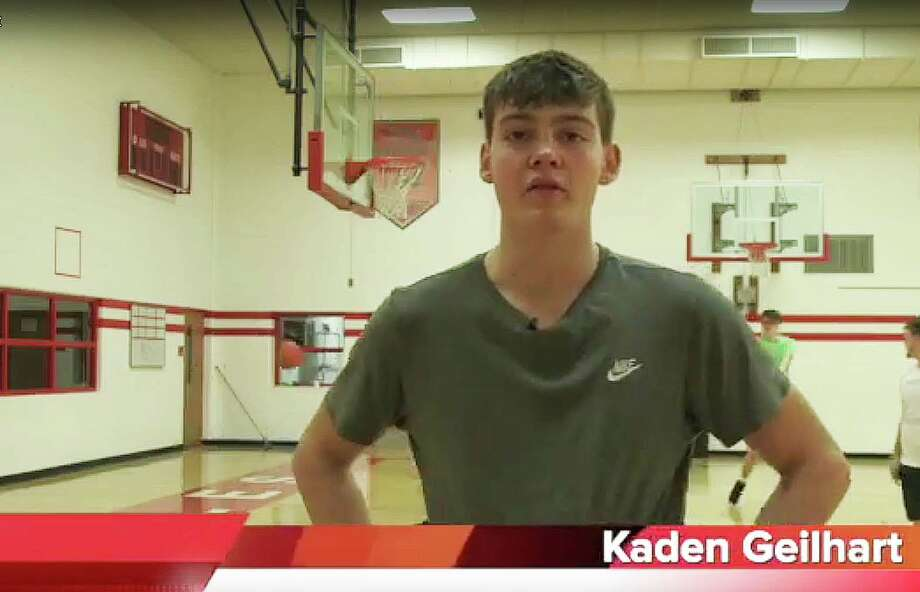 Kaiden Geilhart of the Caseville boys basketball team has been named the Huron Daily Tribune's Athlete of the Week.