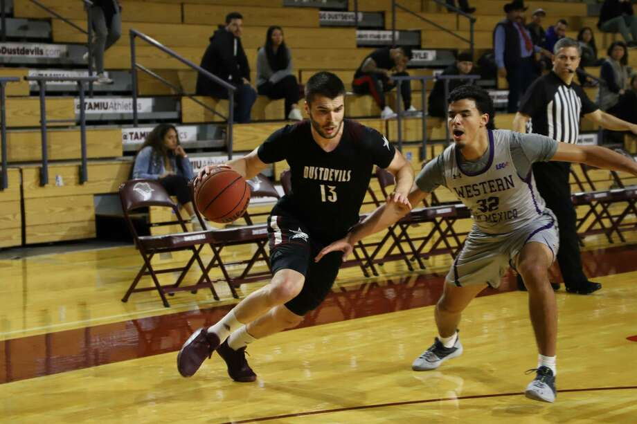 Matija Novkovic scored a game-high 22 points Thursday as TAMIU snapped a 14-game losing streak with a 76-71 win over Eastern New Mexico. Photo: Courtesy Of TAMIU Athletics /file