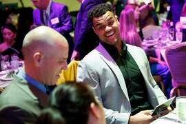Arik Armstead and his high school coachJoe Cattolico at Game Changers banquet at Fairmont Hotel in San Francisco, Calif., on Thursday, January 23, 2020.