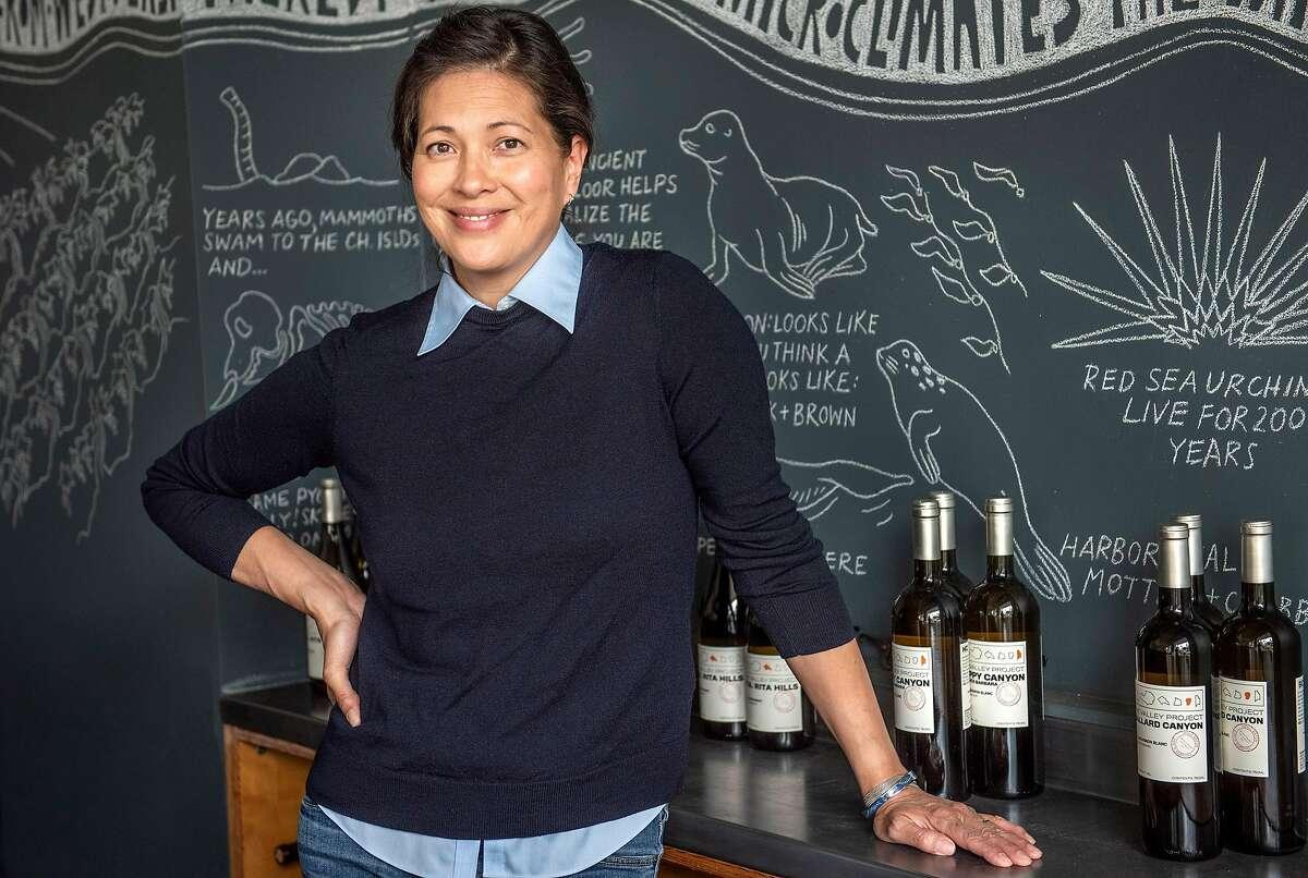 The Valley Project winemaker Magan Kunin at her tasting room on Thursday, April 25, 2019, in Santa Barbara, Ca.