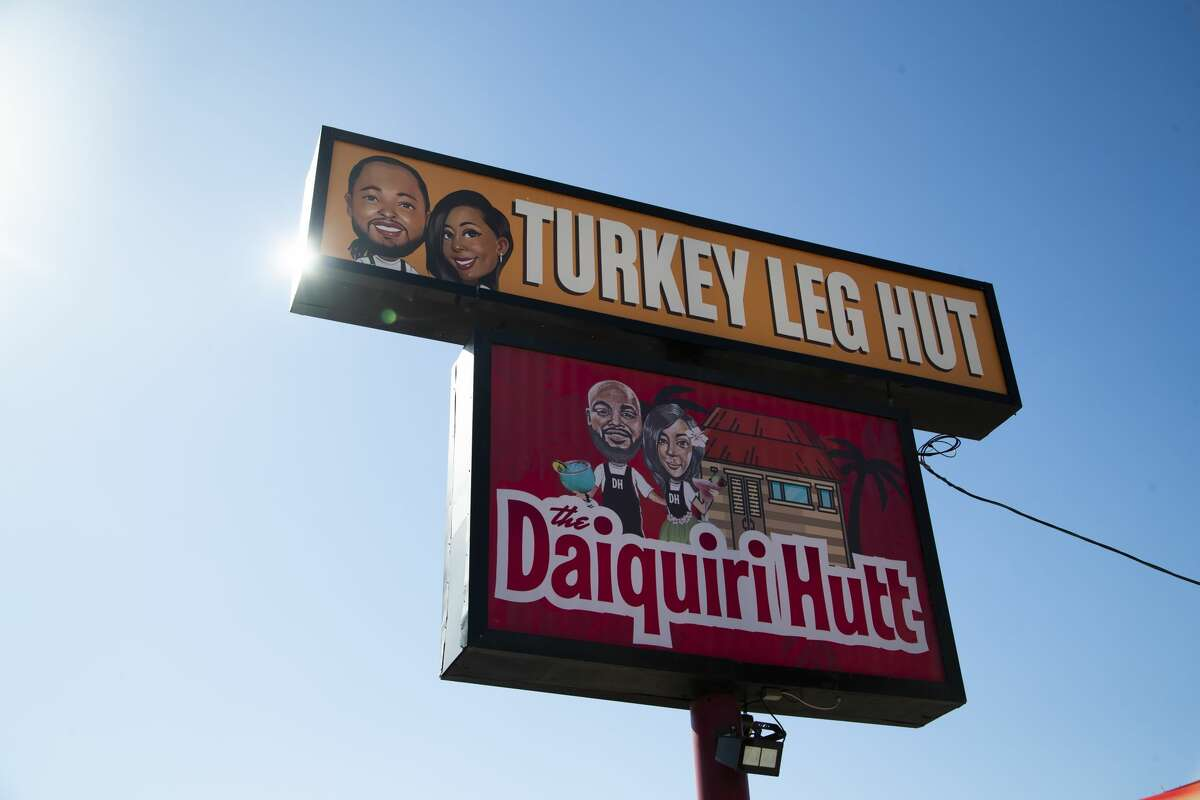 Turkey Leg Hut sign by the restaurant on Friday, Dec. 6, 2019, in Houston. Turkey Leg Hut is a restaurant located in the Third Ward.