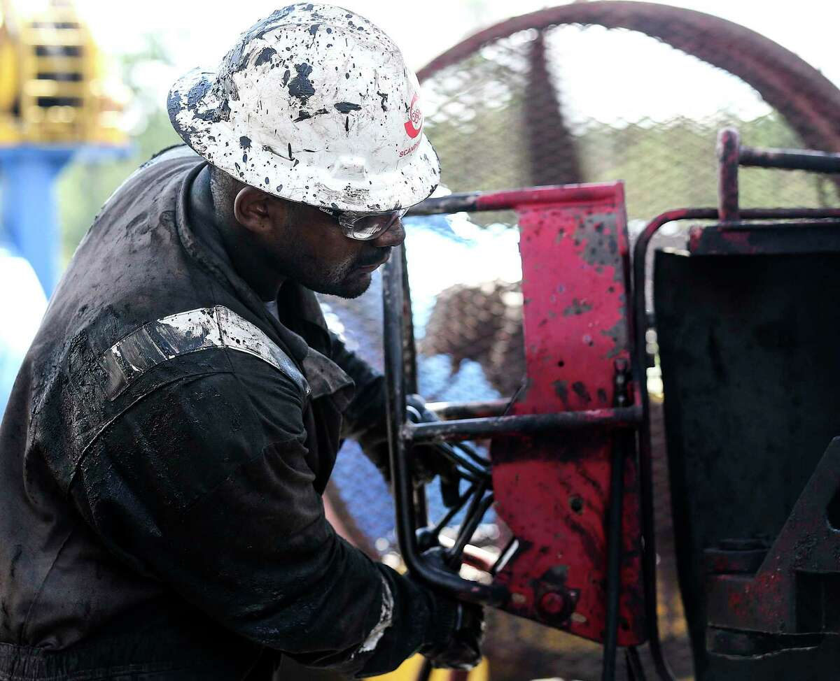 Drilling and natural fracking wells in the Haynesville shale in East Texas lead by Exxon Mobil and XTO Energy on Tuesday, July 19, 2016. ( Elizabeth Conley / Houston Chronicle )