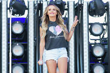 Singer Carly Pearce performs during the Watershed Country Music Festival in August.
