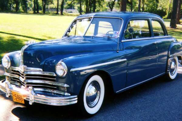 George Parsons found a 1949 Plymouth Special Deluxe Club in excellent condition, took the plunge, and bought it - one of 99,680 such models built in 1949.
