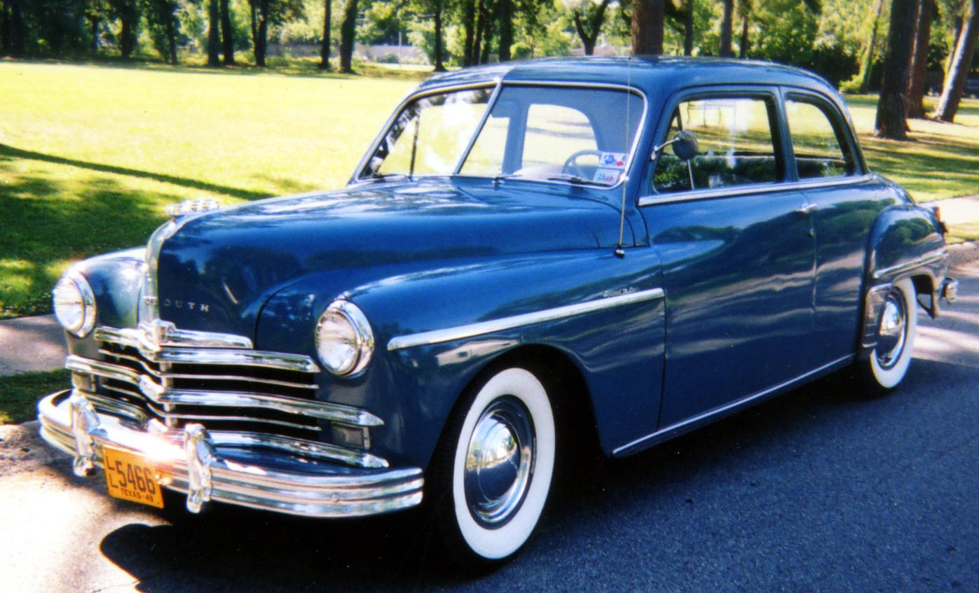 1949 Plymouth is school teacher's retirement project