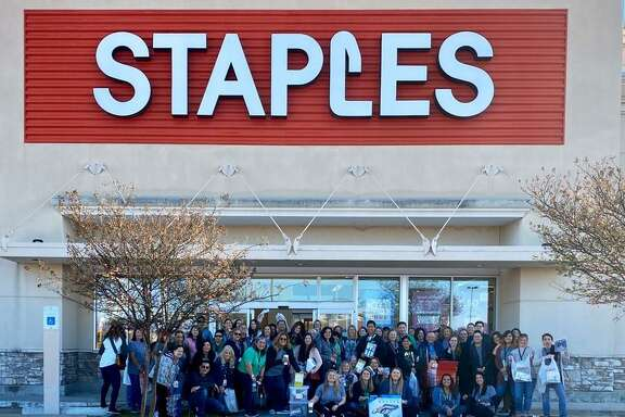 "Teachers at Bear Creek Elementary were treated to a shopping spree after a teacher won Staples' ""Thank a Teacher"" contest."