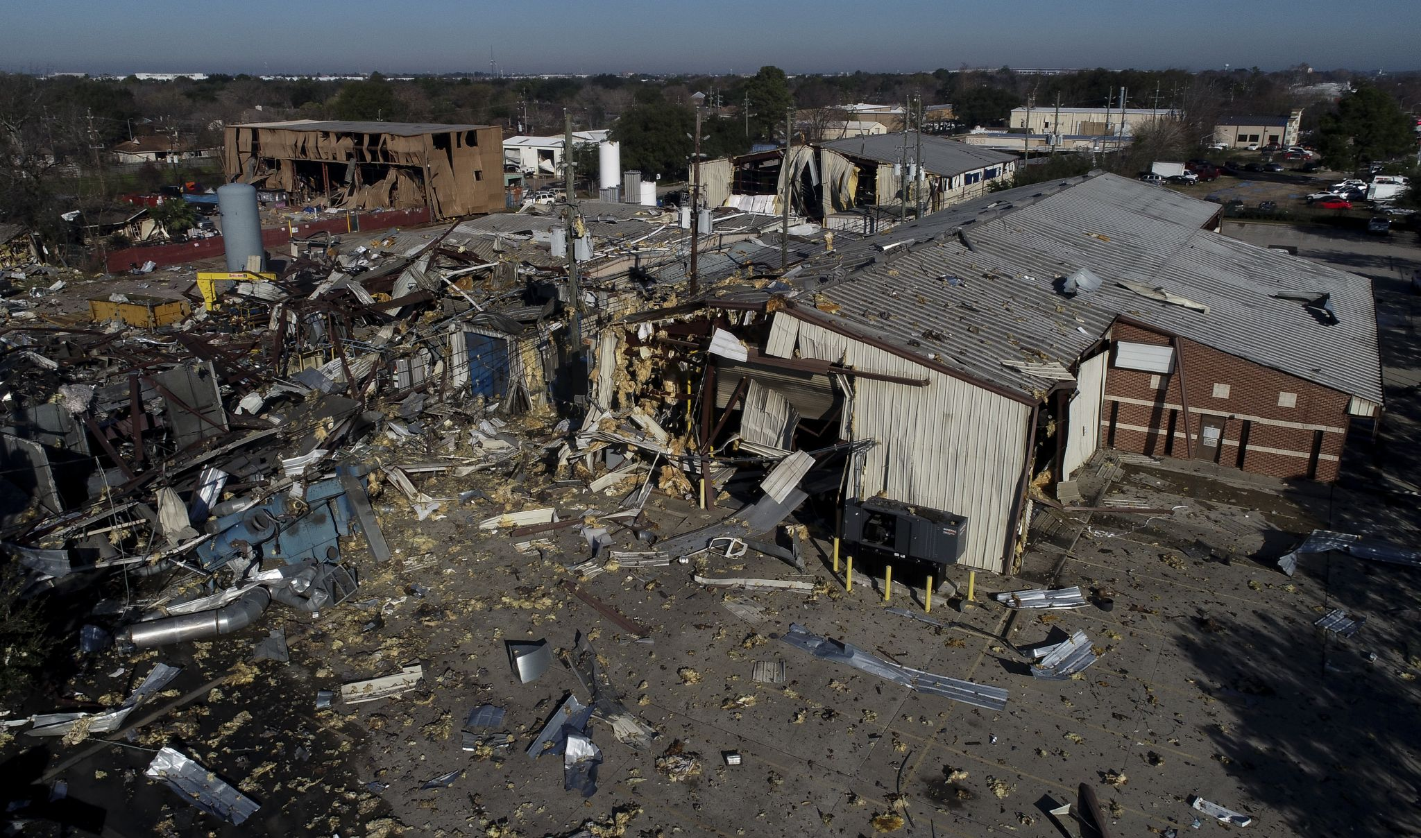 Exclusive drone footage captures the devastation of deadly explosion in west Houston