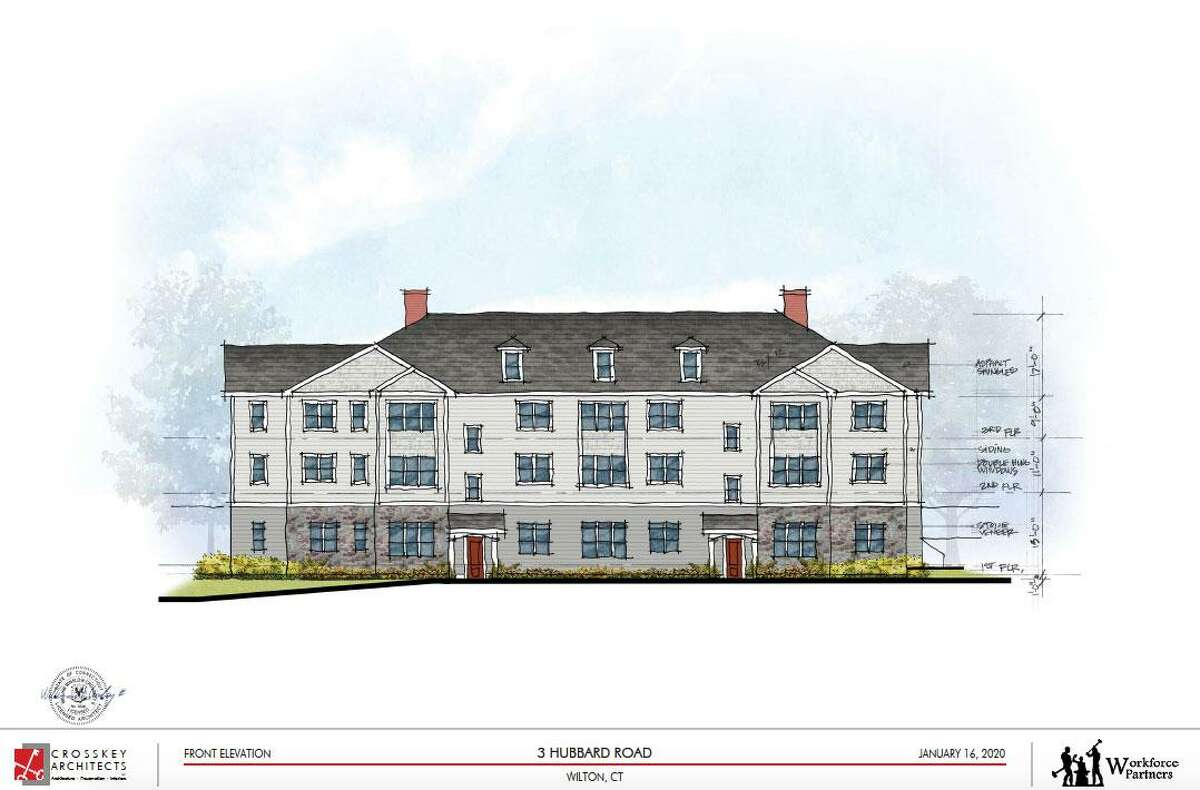 The exterior of the proposed apartment building at 3 Hubbard Road.