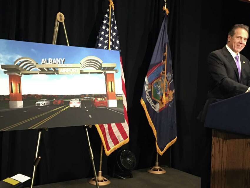 The Albany County Airport Authority is moving ahead with a massive welcome sign that will span Albany Shaker Road at Northway Exit 3.