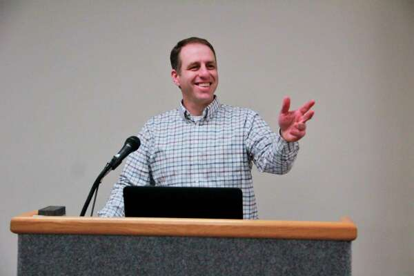 Among his many responsibilities, Big Rapids City Manager Mark Gifford spends two Mondays a month informing the city commission about the ongoing and future projects for the city. (Pioneer photo/Alicia Jaimes)