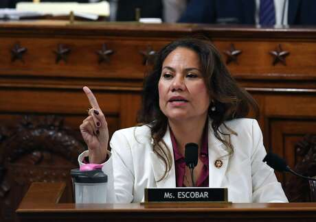 Representative Veronica Escobar speaks during the House Judiciary Committee's markup of House Resolution 755, Articles of Impeachment Against President Donald Trump, on Capitol Hill in Washington, DC, on December 12, 2019. (Photo by Matt McClain / POOL / AFP) (Photo by MATT MCCLAIN/POOL/AFP via Getty Images)