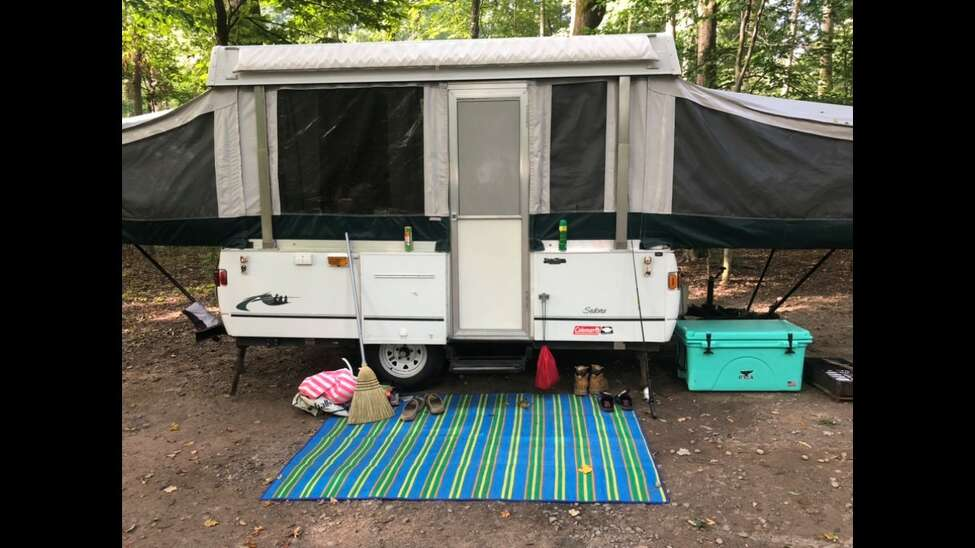 State Police investigators are attempting to locate this Coleman popup camper as part of their investigation into recent thefts and burglaries in Schenectady and Schoharie counties. Anyone with information should contact Investigators at (518) 630-1700.