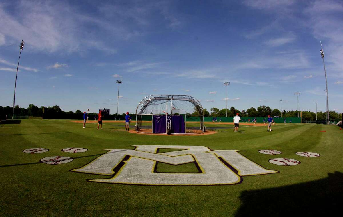 The baseball field for the Montgomery Bears is seen before a District 12-6A high school game against Oak Ridge, Friday, April 27, 2018, in Montgomery. Montgomery ISD Athletic Director Clint Heard wants to turn a Montgomery High School storage building into batting cages for both the baseball and softball teams. Heard approached the school board on Jan. 21 with a request for over $50,000 to renovate the old building into a new indoor hitting facility.