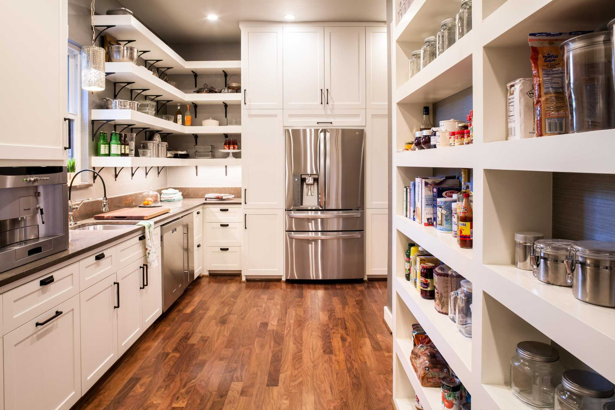 High End Pantries Are Now A Second Kitchen With Extra Appliances Work Stations Gift Wrapping Areas And More Expressnews Com
