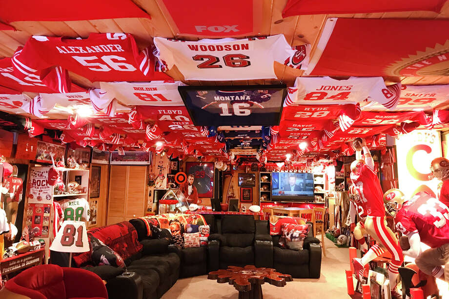 This is the most legendary 49ers fan man cave in America is in — Amery, Wisconsin. Photo: Darin Gilbertson