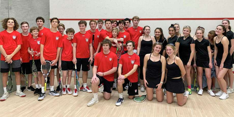 The New Canaan squash teams for the 2019-20 season. Photo: Contributed Photo / Hearst Connecticut Media