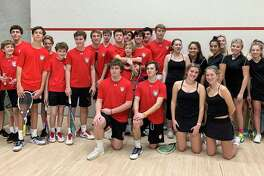 The New Canaan squash teams for the 2019-20 season.