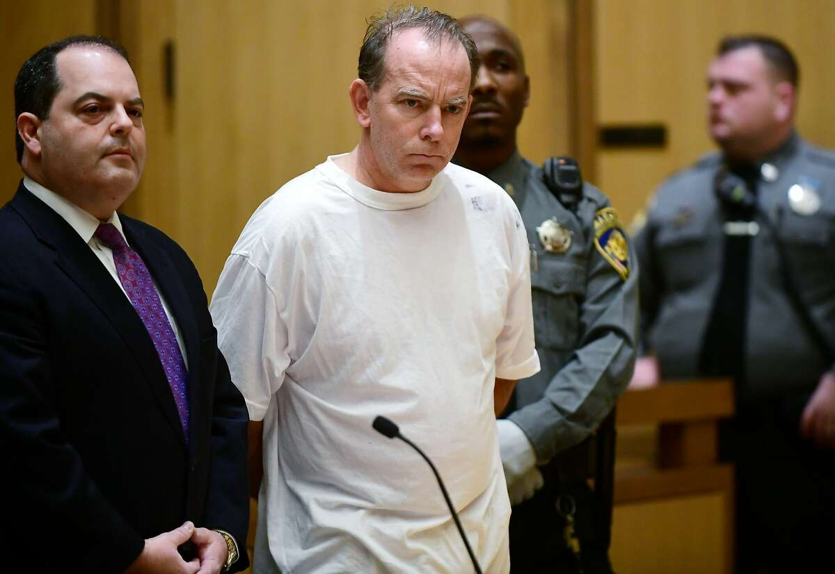 Attorney Kent Douglas Mawhinney is arraigned on conspiracy to commit murder charges in Stamford Superior Court Wednesday, January 8, 2020, in Stamford, Conn.