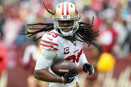 LANDOVER, MARYLAND - OCTOBER 20: Richard Sherman #25 of the San Francisco 49ers runs with ball after a catch against the Washington Redskins during the first half in the game at FedExField on October 20, 2019 in Landover, Maryland. ~~
