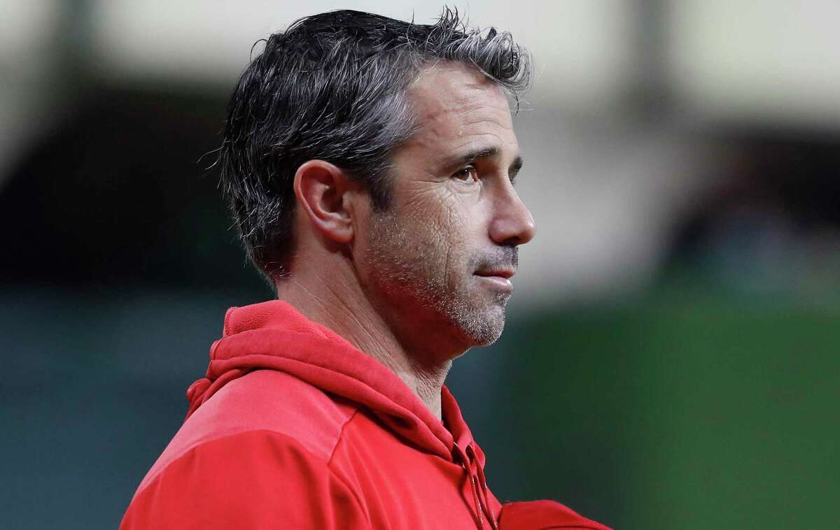 Brad Ausmus, who managed the Angels last season, interviewed for the Astros' job.