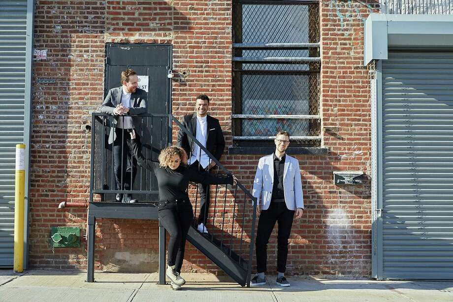 The contemporary classical string quartet PUBLIQuartet, which includes Norwalk music director Nick Revel, is nominated for a Grammy Award this year. Photo: Contributed