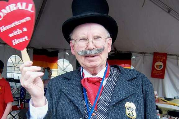 James Seymour Streiner is in costume as Mr. Tom Ball, the namesake of the city of Tomball.