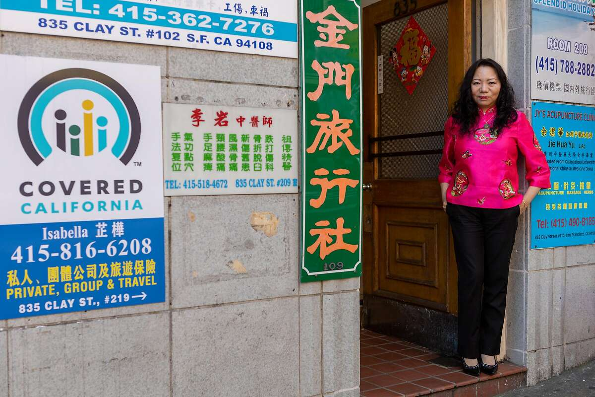 Isabella Ku, a San Francisco insurance agent, poses for a portrait on Friday, Jan. 24, 2020, in San Francisco, CA.